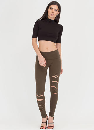 Hole-some Cut-Out Leggings