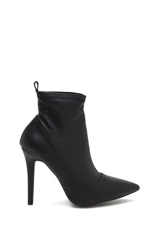 Booties - Lace-Up Ankle Boots Heel &amp Wedge Booties