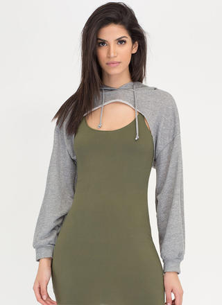 Bust Out High-Low Hoodie Crop Top