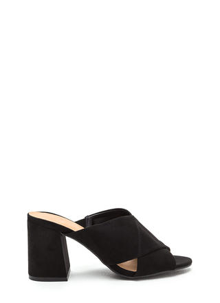 Chic Goal Faux Suede Chunky Heels