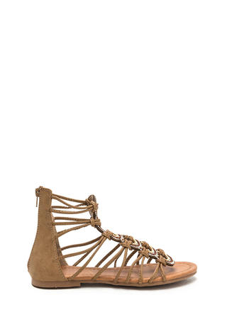 Knot Bad Jeweled Gladiator Sandals