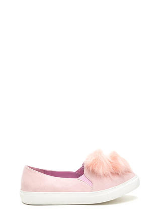 Fur Good Pom-Pom Slip-On Sneakers