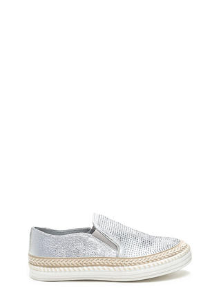 I Sparkle Metallic Slip-On Sneakers