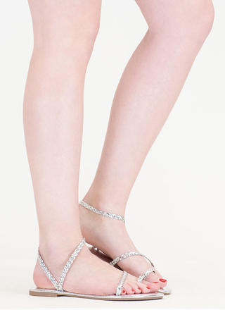 Best Braided Strappy Metallic Sandals