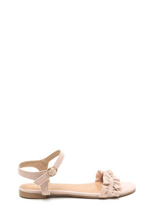 Sweet Atmosphere Strappy Ruffled Sandals