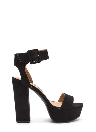 Stand Tall Chunky Ankle Strap Platforms