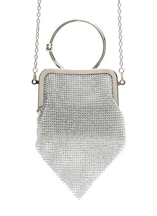 Petite Pick Rhinestone Ring Clutch