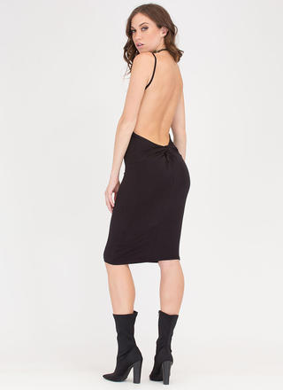 Knotty Thought Open Back Midi Dress