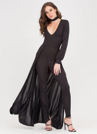 Sweep Off Your Feet Plunging Maxi