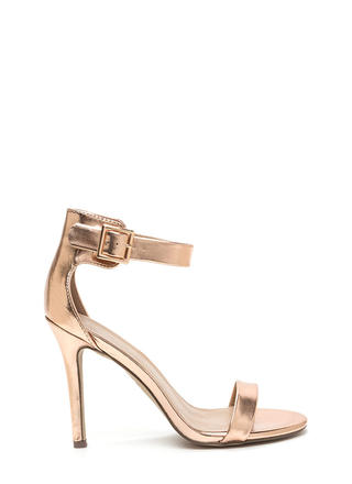Shine A Light On You Ankle Strap Heels