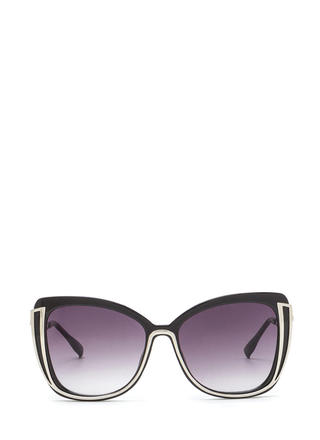 New Look Metallic Trim Sunglasses