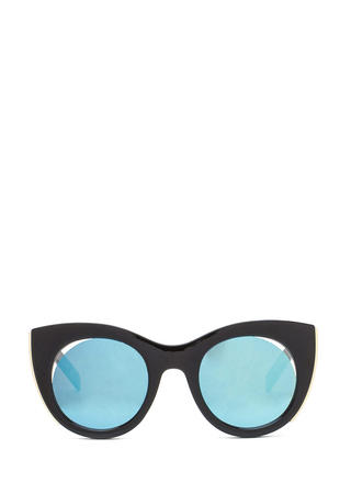 Mod Touch Round Cat-Eye Sunglasses