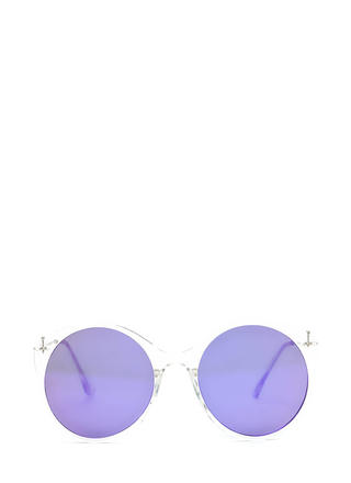 Clear Forecast Round Mirrored Sunglasses