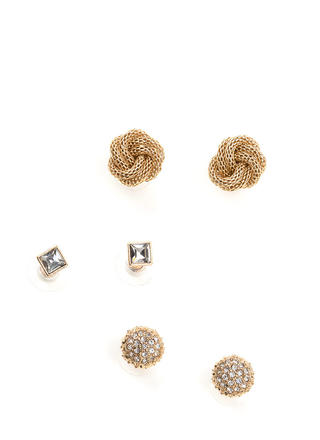 Total Charmer Faux Jewel Earring Set