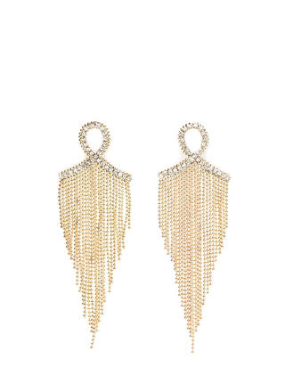 Loop Dreams Chain Fringe Earrings