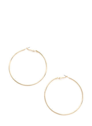 Big Idea Oversized Hoop Earrings
