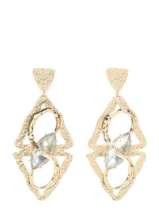 Big Deal Abstract Faux Crystal Earrings