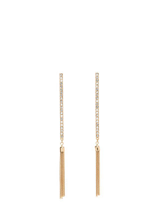 Bar's Been Set Jeweled Tassel Earrings