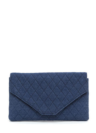 Letter Opener Quilted Denim Clutch