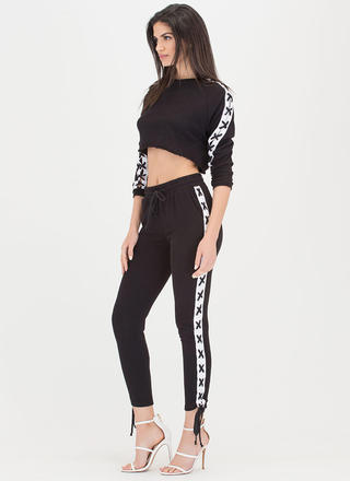 Lace-Up To You Top 'N Bottom Set