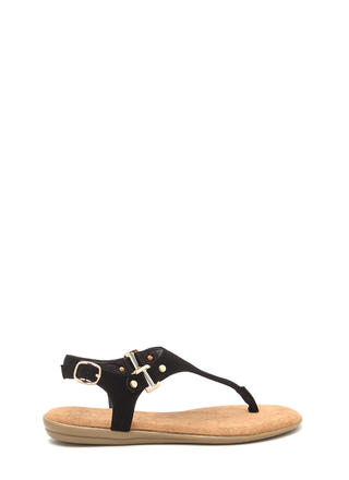 All Day Long Faux Nubuck Sandals