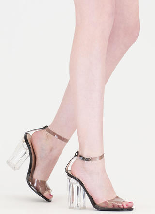 Walking On Air Clear Chunky Heels