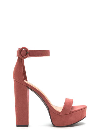 Tall-Star Chunky Faux Suede Platforms