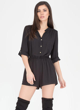 Skirt The Issue Button-Up Romper