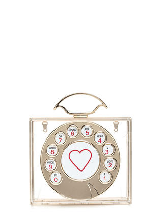 Call Me Maybe Square Lucite Clutch