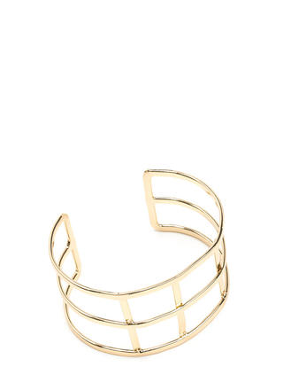 Grid Girl Caged Cuff Bracelet
