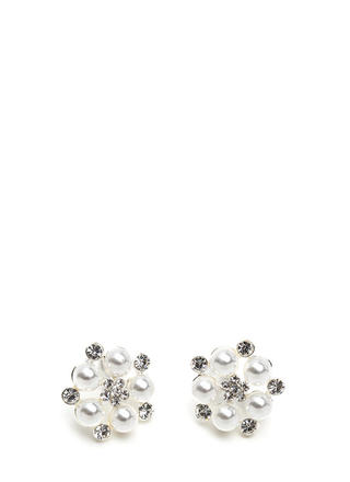 New Blooms Pearl 'N Rhinestone Earrings