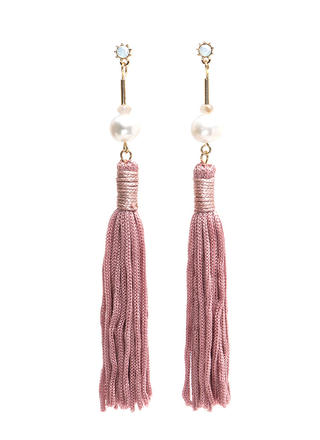 Jewelry Box Faux Pearl Tassel Earrings