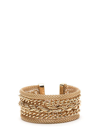All Kinds Of Chains Layered Cuff