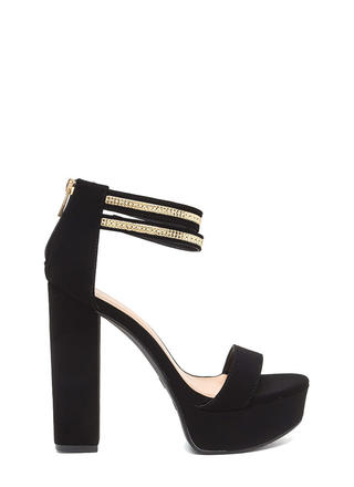 Double The Fun Chunky Platform Heels