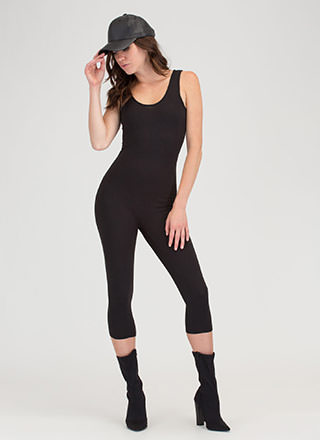 Short And Simple Capri Full Bodysuit