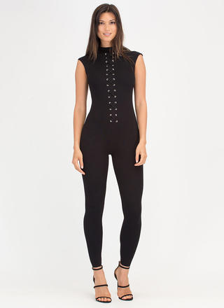 X Marks The Spot Mockneck Jumpsuit