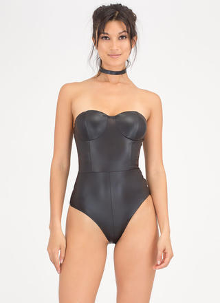 Sleek Chic Strapless Bustier Bodysuit