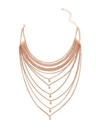 Front And Center Layered Chain Necklace