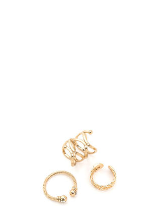 Last Statement Textured Ring Set