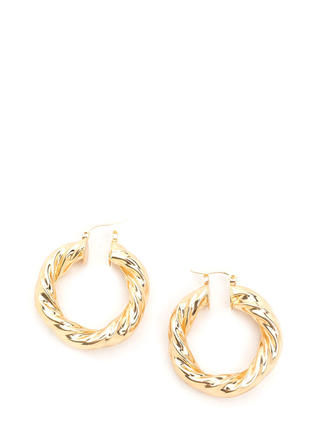 Twist 'N Shout Hoop Earrings