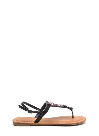 Bedazzled 'N Chic Faux Leather Sandals