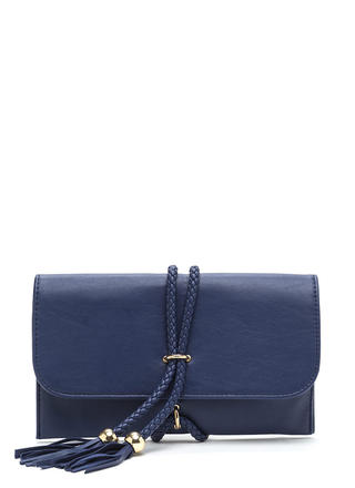 Tie Down Faux Leather Double Cord Bag