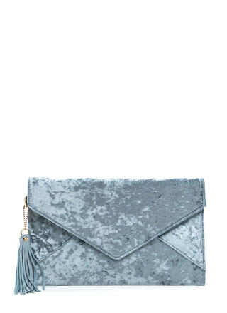 Lap Of Luxury Velvet Envelope Clutch