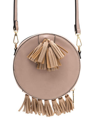 Win This Round Faux Leather Tasseled Bag