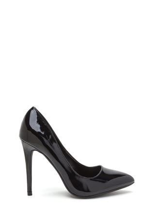 That's A Great Point Faux Patent Pumps