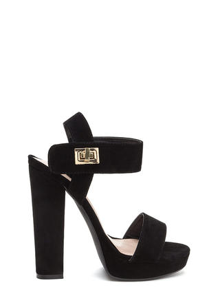 On Lock Chunky Faux Suede Platforms