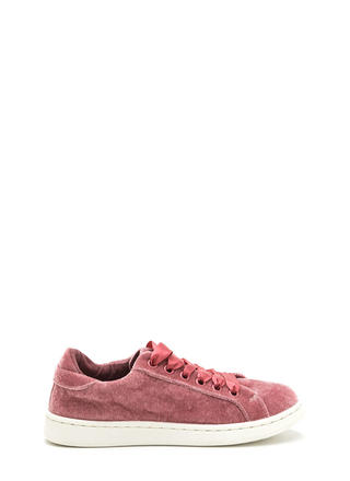 Tie The Ribbon Velvet Sneakers