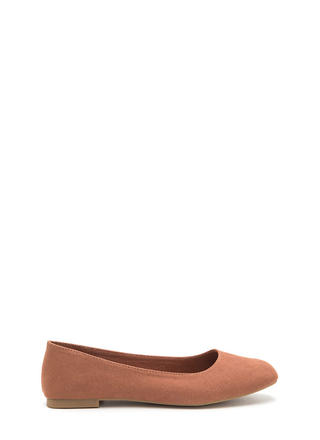 Chic No More Faux Suede Ballet Flats
