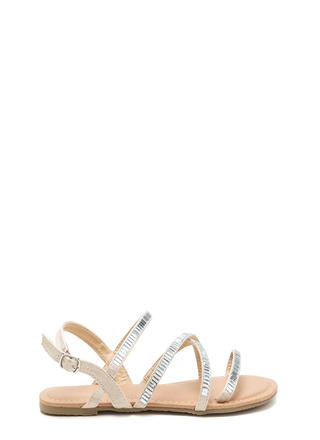 Mirror Mirror Caged Satin Sandals