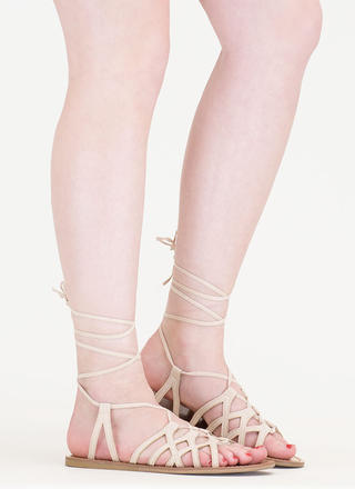 It's A Sign Lace-Up Gladiator Sandals